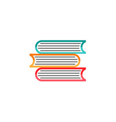 Books flat icon education and school element vector