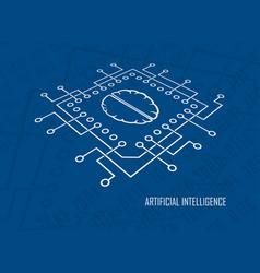 Artificial intelligence cpu brain vector