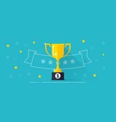 Winner award banner  flat vector