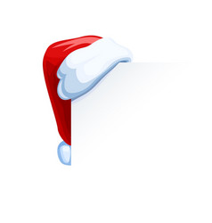Santa claus cap hang vector