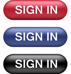 Sign in buttons collection vector