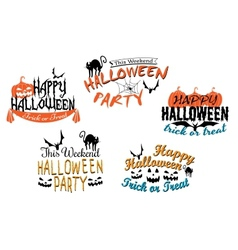 Halloween holiday party posters and banners vector