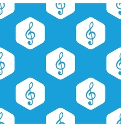 Treble clef hexagon pattern vector