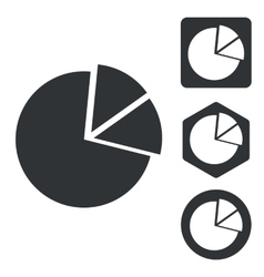 Diagram icon set monochrome vector