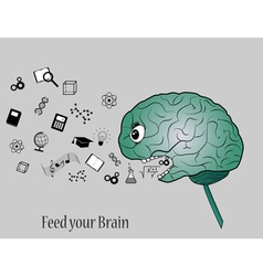 Feed your brain vector