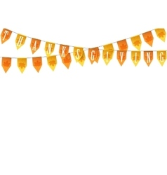 Thanksgiving buntings garlands isolated on white vector