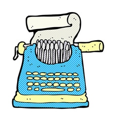 Comic cartoon typewriter vector