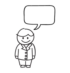 Businessman speech bubble vector