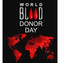 World blood donor day-june 14th vector
