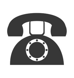 Grey old phone graphic vector