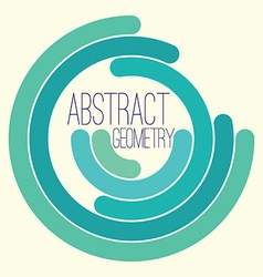 Abstract geometry simple figure for your text logo vector image vector image
