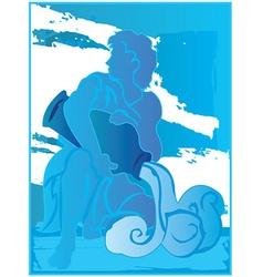 aquarius background design vector image