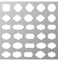 Blank frames and labels vector