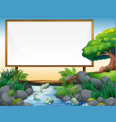 Board template with river in background vector