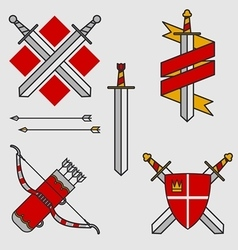 Bows and swords vector