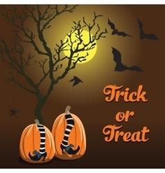 brown background Halloween style pumpkin vector image vector image
