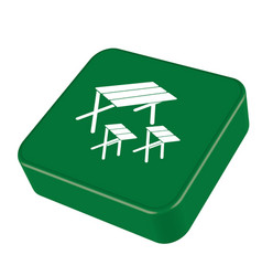 Camping table and stool icon vector