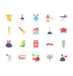 Cleaning colored icons 2 vector