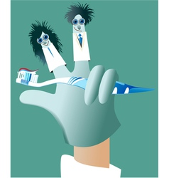 Dental glove puppets vector