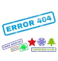 Error 404 rubber stamp vector