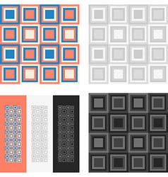 Fashion geometrical pattern with squares vector image vector image