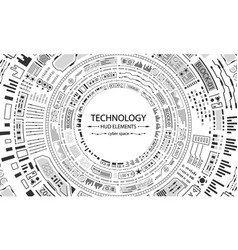 Futuristic hud circles design technology vector
