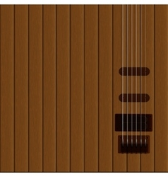 guitar strings on the wooden background vector image vector image