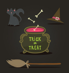 happy halloween background card for your design vector image vector image