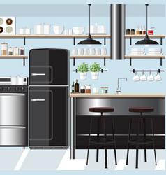 kitchen inspiration design vector image