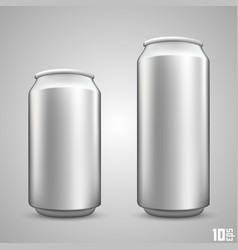 Large and small beer can vector