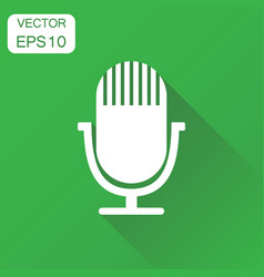 Microphone icon business concept microphone vector