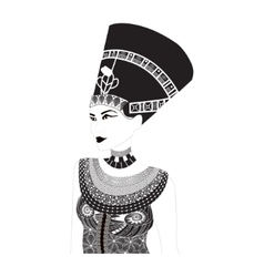 Nefertiti - egyptian queen vector