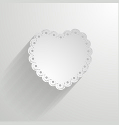 paper heart with a lacy border vector image vector image