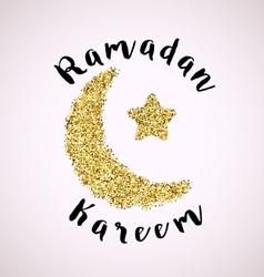 Ramadan greeting background vector image
