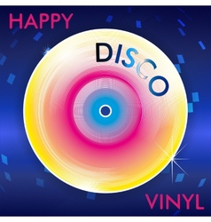 Retro disco vinil vector