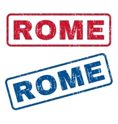 Rome rubber stamps vector