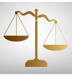 Scales of Justice sign vector image vector image