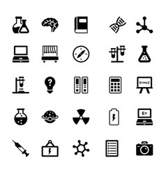 Science and technology glyph icons 10 vector