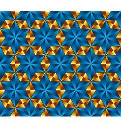 Seamless tiles in shape of hexagonal stars vector image vector image