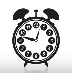 Silhouette of retro alarm clock eps 10 vector