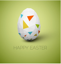simple happy easter card vector image vector image