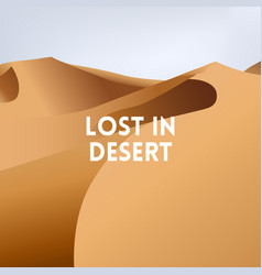 Square blurred yellow background - desert dunes vector