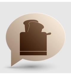 Toaster simple sign brown gradient icon on bubble vector