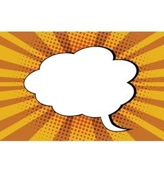 Comic bubble cloud pop art retro vector
