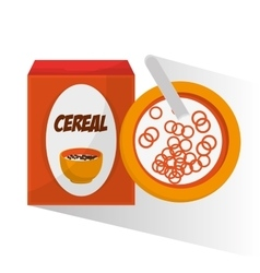 Cereal and breakfast design vector