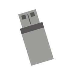 Usb memory storage isolated icon vector