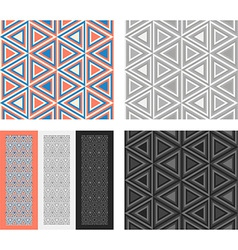 Fashion geometrical pattern with triangles vector