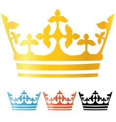 Crowns set vector