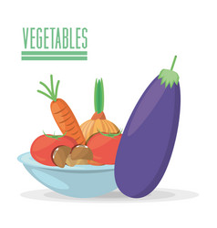 Vegetables organic food product image vector
