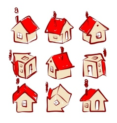 Set of house icons for your design vector